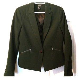 F21 Green Jacket/Blazer